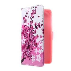 Cross peněženkové pouzdro na Huawei Honor 7 - kvetoucí větvička - 1