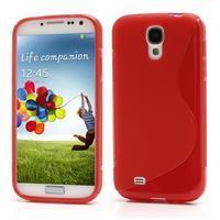 S-line gelový obal na Samsung Galaxy S4 - červený - 1/6