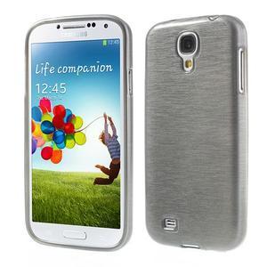 Gelový kryt s broušeným vzorem na Samsung Galaxy S4 - šedý - 1