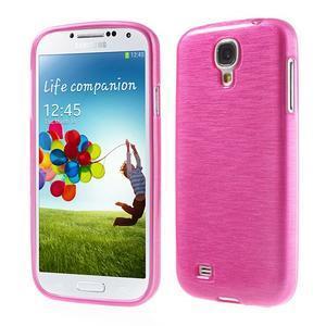 Gelový kryt s broušeným vzorem na Samsung Galaxy S4 - rose - 1
