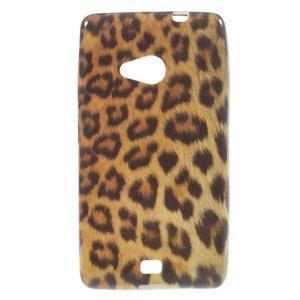 Soft gelový obal na Microsoft Lumia 535 - leopard - 1