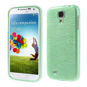Gelový kryt s broušeným vzorem na Samsung Galaxy S4 - azurový - 1