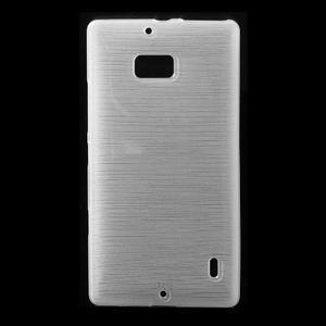 Gelový obal s broušeným vzorem Nokia Lumia 930 - bílý - 1