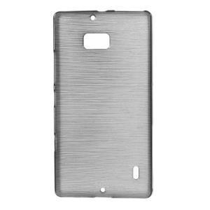 Gelový obal s broušeným vzorem Nokia Lumia 930 - šedý - 1