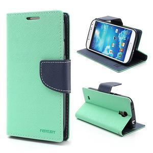 Fancy peněženkové pouzdro na Samsung Galaxy S4 -  azurové - 1