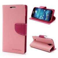 Fancy peněženkové pouzdro na Samsung Galaxy S4 -  růžové - 1/7