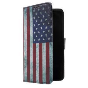 Cross peněženkové pouzdro na Huawei Honor 7 - US vlajka - 1