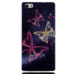 Blu-ray magic gelový obal na Huawei Ascend P8 Lite - kouzelní motýlci - 1