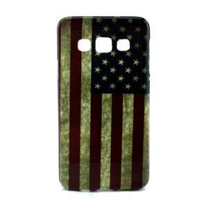 Gelový kryt na Samsung Galaxy A3 - vlajka USA - 1