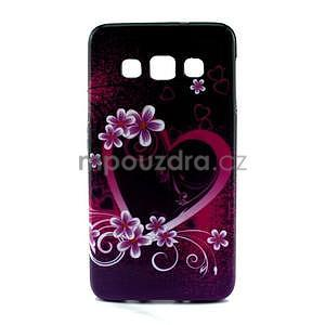 Gelový kryt na Samsung Galaxy A3 - srdce - 1