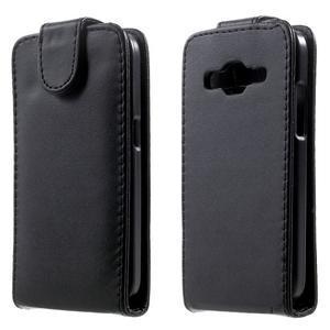 Černé flipové pouzdro na Samsung Galaxy Core Prime - 1