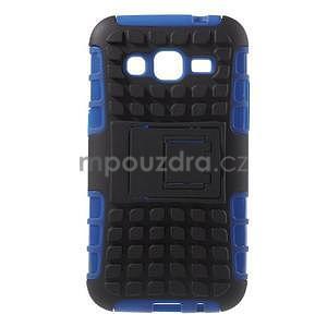 Extrémně odolný obal se stojánkem na Samsung Galaxy Core Prime - modrý - 1