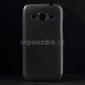 Broušený gelový kryt na Samsung Galaxy Core Prime - šedý - 1