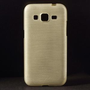 Broušený gelový kryt na Samsung Galaxy Core Prime - zlatý - 1