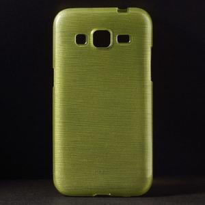 Broušený gelový kryt na Samsung Galaxy Core Prime - zelený - 1