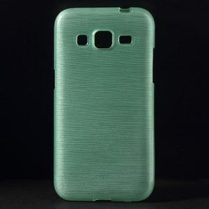 Broušený gelový kryt na Samsung Galaxy Core Prime - cyan - 1