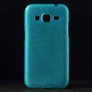 Broušený gelový kryt na Samsung Galaxy Core Prime - tyrkysový - 1