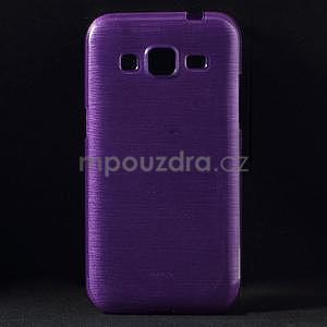 Broušený gelový kryt na Samsung Galaxy Core Prime - fialový - 1
