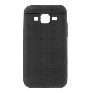 Černý tečkovaný kryt na Samsung Galaxy Core Prime - 1