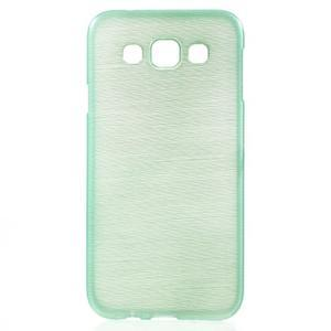 Broušené gelový kryt na Samsung Galaxy E5 - cyan - 1
