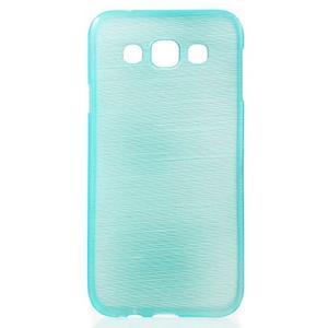 Broušené gelový kryt na Samsung Galaxy E5 - tyrkysový - 1