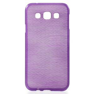 Broušené gelový kryt na Samsung Galaxy E5 - fialový - 1