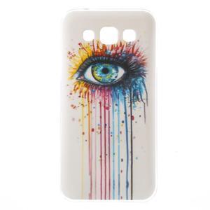 Gelový obal na mobil Samsung Galaxy E5 - barevné oko - 1
