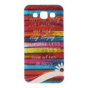 Gelový obal na mobil Samsung Galaxy E5 - barevné desky - 1