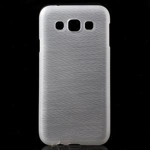 Broušené gelový kryt na Samsung Galaxy E5 - bílý - 1