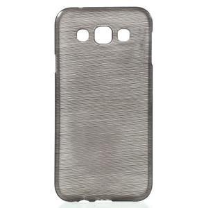 Broušené gelový kryt na Samsung Galaxy E5 - šedý - 1