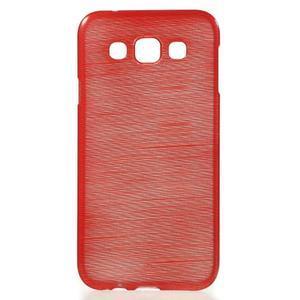 Broušené gelový kryt na Samsung Galaxy E5 - červený - 1