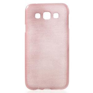 Broušené gelový kryt na Samsung Galaxy E5 - růžový - 1