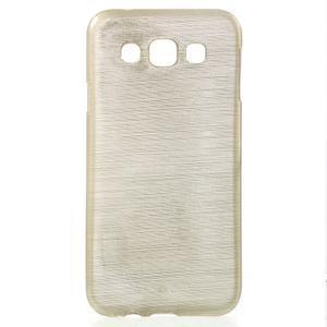 Broušené gelový kryt na Samsung Galaxy E5 - champagne - 1