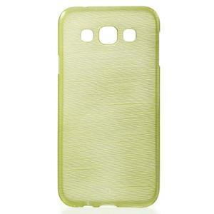 Broušené gelový kryt na Samsung Galaxy E5 - okrový - 1