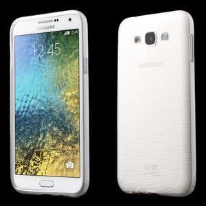 Broušený gelový obal pro Samsung Galaxy E7 - bílý - 1