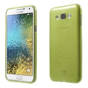 Broušený gelový obal pro Samsung Galaxy E7 - zelený - 1