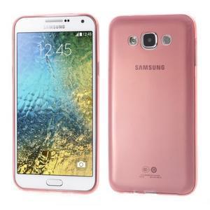 Ulta tenký obal na Samsung Galaxy E7 - červený - 1