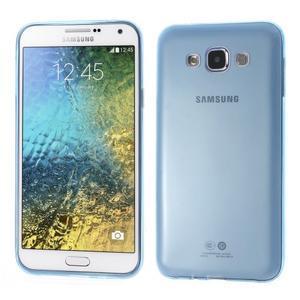Ulta tenký obal na Samsung Galaxy E7 - modrý - 1