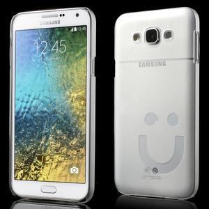 Plastový kryt na mobil Samsung Galaxy E7 - transparentní - 1