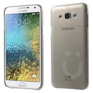 Plastový kryt na mobil Samsung Galaxy E7 - šedý - 1