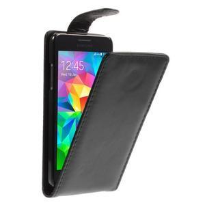 Černé flipové pouzdro na Samsung Galaxy Grand Prime - 1