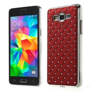 Červený drahokamový kryt na Samsung Grand Prime - 1
