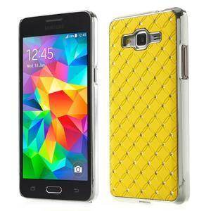 Žlutý drahokamový kryt na Samsung Grand Prime - 1