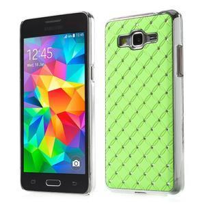 Zelený drahokamový kryt na Samsung Grand Prime - 1