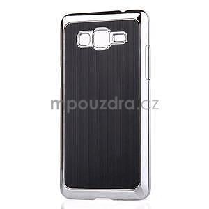 Obal s hliníkovými zády na Samsung Galaxy Grand Prime - černý