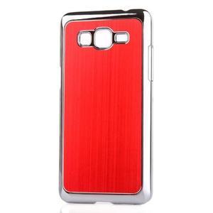 Obal s hliníkovými zády na Samsung Galaxy Grand Prime - červený