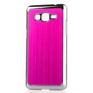 Obal s hliníkovými zády na Samsung Galaxy Grand Prime - rose