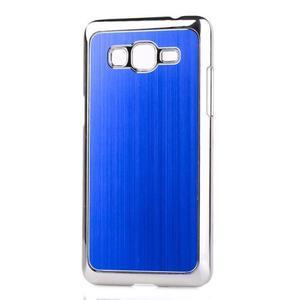 Obal s hliníkovými zády na Samsung Galaxy Grand Prime - modrý