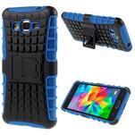 Vysoce odolný kryt se stojánkem na Samsung Galaxy Grand Prime - modrý - 1/7