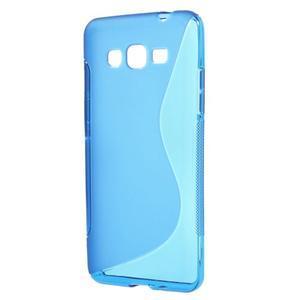 S-line gelový obal na Samsung Galaxy Grand Prime - modrý - 1